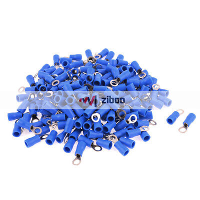AU11.84 • Buy 200Pcs RV2-4 AWG 16-14 Blue PVC Cap Non Insulated Ring Terminals Connector 27 A