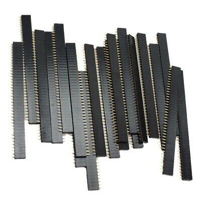 $3.18 • Buy 20 PCS Female 40pin 2.54mm Header Socket Row Strip PCB Connector For Arduino