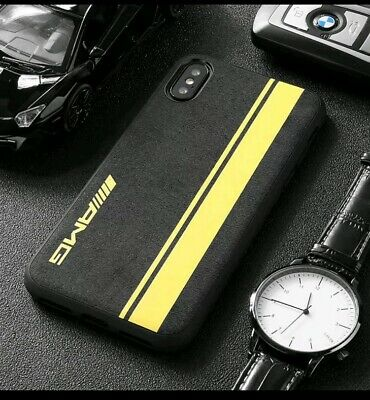 AU16.23 • Buy Samsung Fit AMG Yellow Alcantara Suede ALL MODELS Phone Case Cover