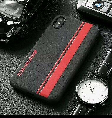 AU19.85 • Buy Samsung Fit AMG Red Alcantara Suede Phone Case Cover ALL MODELS UK