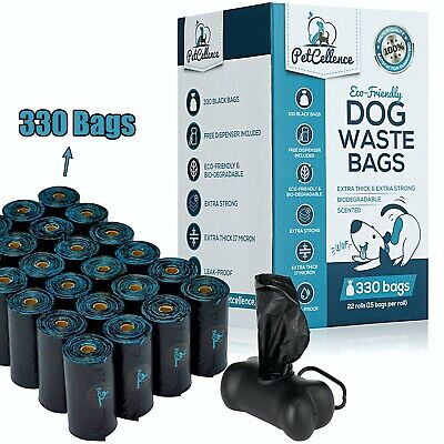 £11.95 • Buy PetCellence Biodegradable Dog Poo Bags 330/660 Poop Waste Bags Roll Eco Friendly