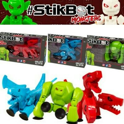 Stikbot Mega Monster Cerberus, Gigantus, Scorch Monsters Animation Action Toys • 9.90£