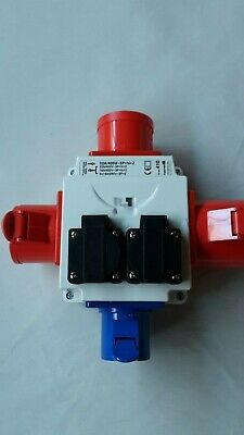 3 Phase Site Electrics Power Extension 3 Way Red Splitter, 400V To 240V Adapter • 55.99£