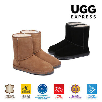 AU82 • Buy 【EXTRA17%OFF】UGG Boots Women Classic Short Men Water Resistant Sheepskin Boots