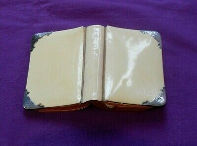 £49.99 • Buy Antique 1915 Hallmarked Sterling Silver & Celluloid Common Prayer Bible Book
