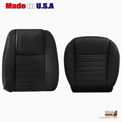 $341.49 • Buy 2005 - 2009 Ford Mustang Driver Bottom And Top Perforated Leather Seat Cover BLK