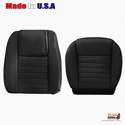 $341.49 • Buy 2005 2006 2007 2008 2009 Ford Mustang DRIVER Bottom-Top BLK Leather Seat Cover