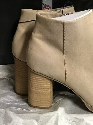 1600f913767 Dolce Vita DV Women s Sand Suede Emerson Zip Up Ankle Booties Size 12 •  9.99