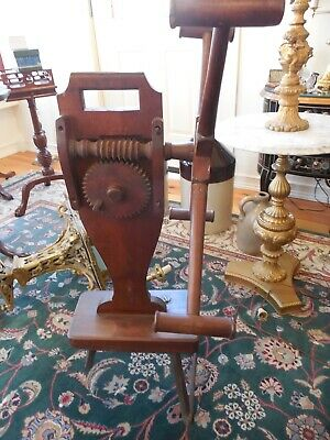 Antique Primitive Wooden Yarn Winder Spinning Wheel Original Patina • 117.04£