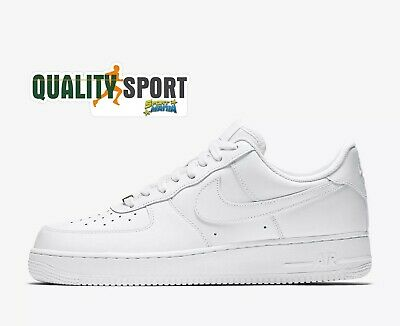 outlet store e7dd3 a41d6 Nike Air Force 1  07 Bianco Scarpe Shoes Uomo Sportive Sneakers 315122 111  2019 •