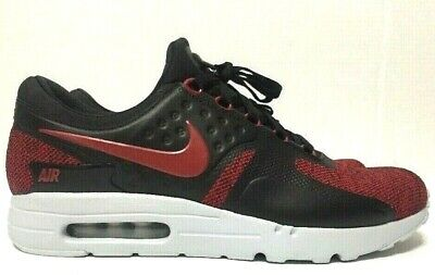 $119.99 • Buy Nike Air Max Zero SE Running Shoes Red Black Mens 918232-002 Size 10M