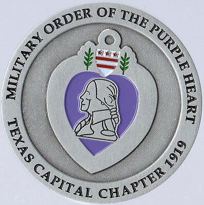 $29.95 • Buy Military Order Of The Purple Heart Texas Capital Chapter Golf   Coin 2   DIA