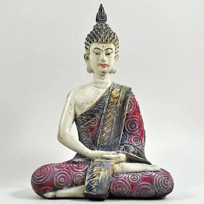 Sitting Thai Buddha Figure Spiritual Sculpture Garden Ornament Meditation Statue • 19.95£