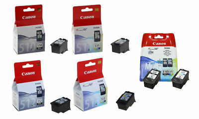 Canon PG510 Black CL511 Colour PG512 Black CL513 Colour For PIXMA IP2700 Printer • 19.95£