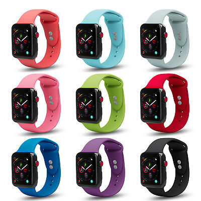 AU13.58 • Buy Apple Watch Soft Silicone Sport Strap Band Series 5 4 3 2 1 Nike+ + Clear Case
