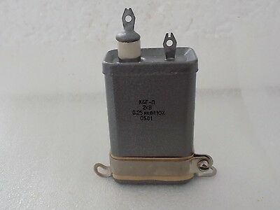 $5 • Buy 1x KBG-P 0.25uF 2kV High Voltage Paper In Oil PIO Pulse Capacitor NOS From USSR