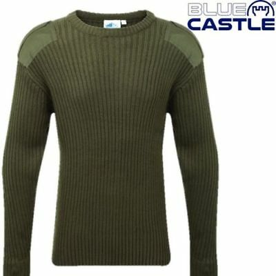 Nato Jumper,olive Green,blue Castle,country,farm,fishing,hunting,work,army,land • 15.99£