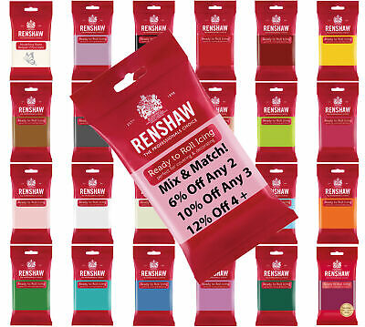 £2.55 • Buy 250g RENSHAW  Ready To Roll Icing Sugarpaste Fondant - Mix & Match Special Offer