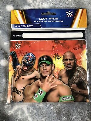 WWE Plastic Party/Loot Bags /8     • 3.50£
