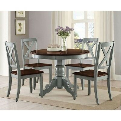 $282.15 • Buy Round Dining Table Room Wood Tables Farmhouse Pedestal Antique Kitchen 42 Inch
