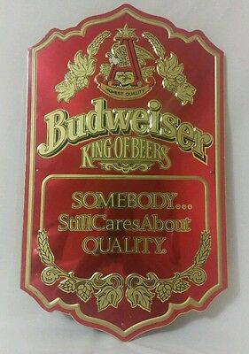 $ CDN81.89 • Buy Vintage Budweiser King Of Beers Somebody Still Cares About Quality Tin Bar Sign