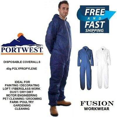 £6.99 • Buy Disposable Coverall,diy,paper,overall,dust Fibreglass,loft,painting & Decorating