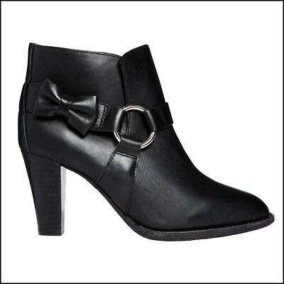 £35.17 • Buy F-Troupe Son London Black Leather Bow Ring Ankle Boot Bootie US 6.5 - 7 (EU 39)