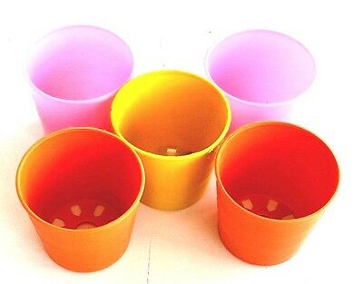 $ CDN49.73 • Buy 5 Ea 3 Inch Mesh Net Pots Cup Hydroponic Orchids Plastic Orange Pink Yellow Bask