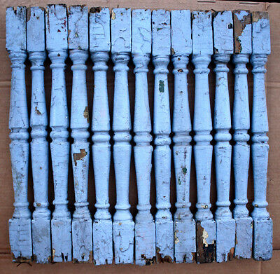 $169.99 • Buy 13 Antique Vintage 24  Wood Wooden Staircase Stair Rail Spindles Posts Balusters