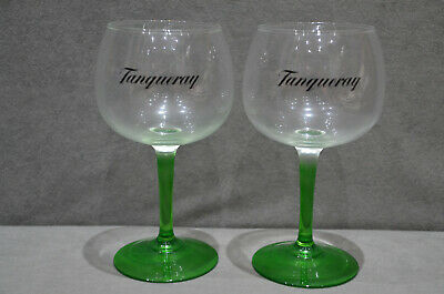 £16.99 • Buy 2x Tanqueray Balloon Large Green Steamed Glass Gin Bowl Goblet Limited New 2021