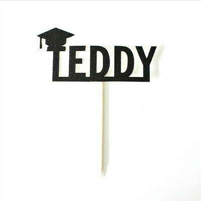 Personalised Name Graduation Cake Topper Class Of 2019 High School Decoration • 8.09£