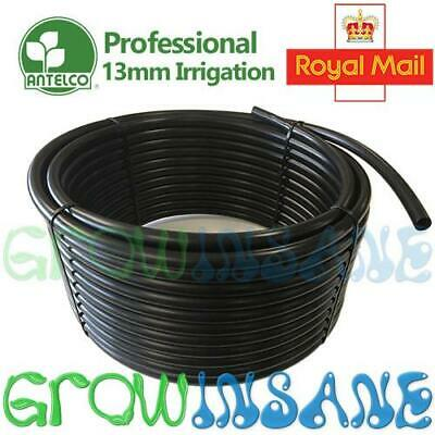 Antelco 13mm 1/2 Inch Garden Irrigation Black LDPE Supply Pipe Hozelock Comp. • 10.95£