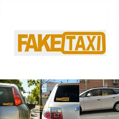 $2.99 • Buy -FAKE TAXI- Car SUV Truck Funny JDM Window Bumper Vinyl Decal Sticker Slammed