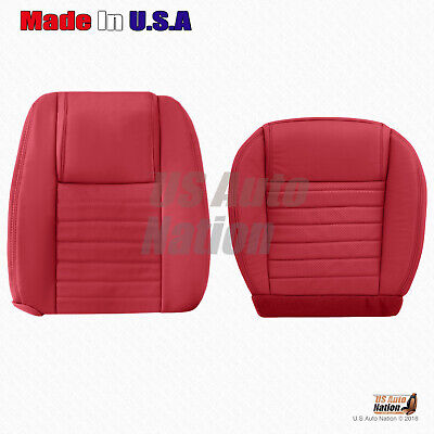 $341.49 • Buy For 2005 To 2009 Ford Mustang RIGHT Bottom-Top Perforated Leather Seat Cover RED