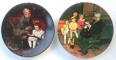 $ CDN16.33 • Buy Norman Rockwell  Plates Lot Young Scholar Family Doctor Heritage Collectible 2pc