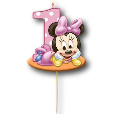 AU9.95 • Buy Minnie Mouse Cake Topper Kids First Birthday Party Decoration Image Cut Card