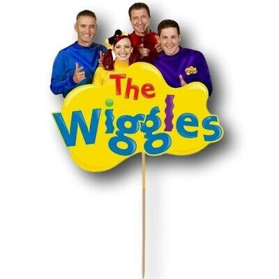 AU9.95 • Buy The Wiggles Cake Topper Kids First Birthday Party Decoration Image Cut Card