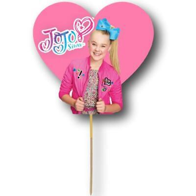 AU9.95 • Buy JoJo Siwa Cake Topper Kids Birthday Party Decoration Image Cut Card