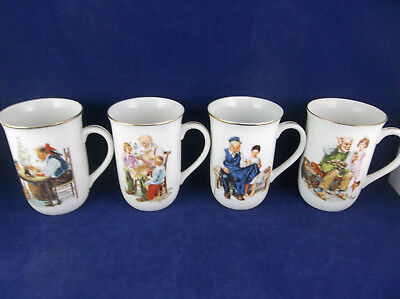 $ CDN34.51 • Buy Set Of 4 Norman Rockwell 1986 Museum Collections Art Mugs