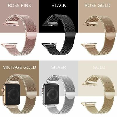 AU11.50 • Buy For Apple Watch Series 5,4,3,2,1 Milanese Magnetic Stainless Steel IWatch Band
