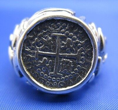 $89 • Buy Sterling Silver Mens Atocha Replica Coin Ring LARGE SIZE AVAILABLE Up To Size 18