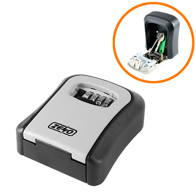 £12.95 • Buy Wall Mounted Key Safe Box Secure Lock Safety 4 Digit Security Outdoor Storage