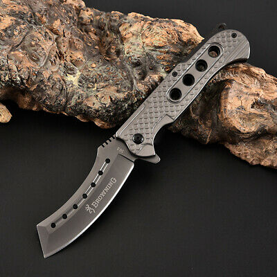AU22.89 • Buy Browning Folding Knife Hunting Camping Survival Fishing Outdoor Pocket Tactical