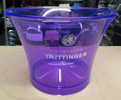 New Taittinger Reims Champagne Lilac Violet Ice Bucket 14  X 9  • 54£