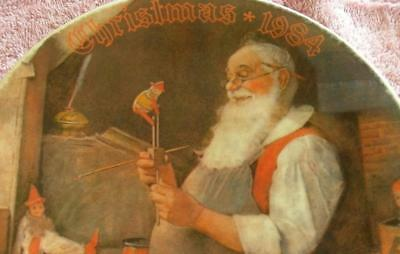 $ CDN26.65 • Buy Collector Plate Vintage Norman Rockwell  SANTA  IN WORKSHOP  Knowles China  1984