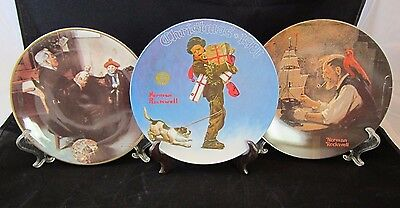 $ CDN11.99 • Buy Lot Of 3 Norman Rockwell Collector's Plates, Knowles And Royalwood,