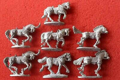 Grenadier Miniatures 25mm Metal Horse Horses Steed Mount Fantasy Figure Models • 6.99£