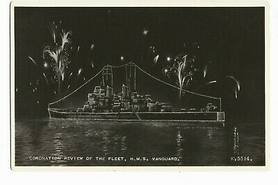 £3.50 • Buy Vintage Picture Postcard HMS Vanguard Coronation Review Of The Fleet Real Photo