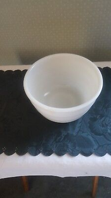 $4 • Buy Vintage Milk Glass Mixing Bowl For Stand Mixer, Marked GE On Bottom