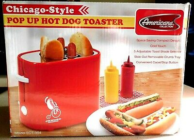 $16.99 • Buy Retro Red Pop Up Hot Dog Toaster And Bun Warmer By Americana Collection
